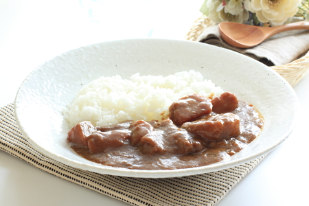 beef curry: Japanese beef curry rice Stock Photo