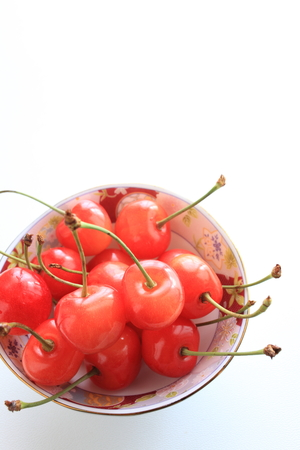 early summer: Freshness cherry on Bowl for early summer fruit in Japan