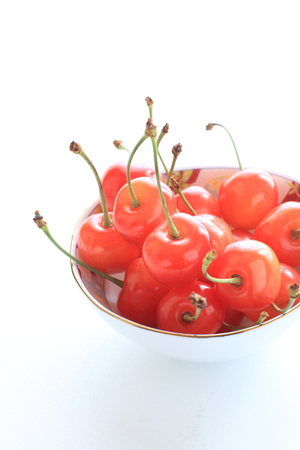 early summer: Japanese cherry for early summer fruit image Stock Photo