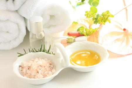 Anthurium and massage oil photo