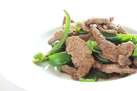 cuisines: Chinese food, beef and green pepper stir fried