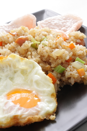 Indonesian food, Nasi Goreng fried rice Фото со стока