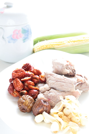 chinese medical: The ingredient for cooking Chinese medical herbal soup