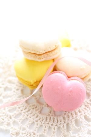 heart shaped: Heart shaped macaroon