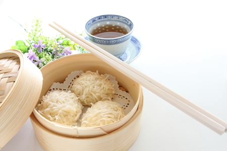 Chinese food, Xiaolongbao and tea for Yam cha image