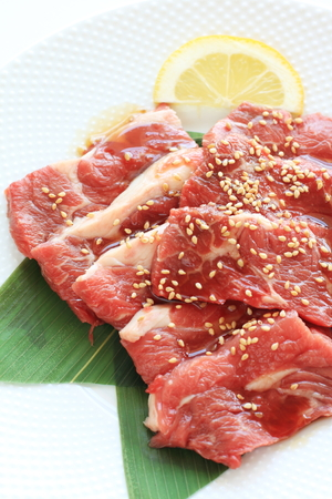 korean food, Yakiniku freshness beef for BBQ photo