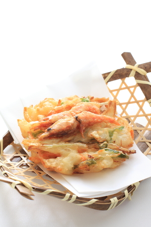 Japanese food, shrimp and vegetable tempura photo