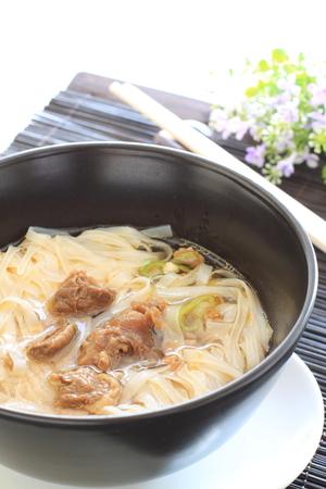 vietnamese food: vietnamese food, beef and rice noodles