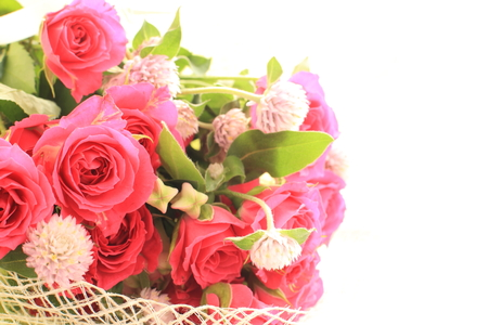 arrangment: rose bouquet Stock Photo