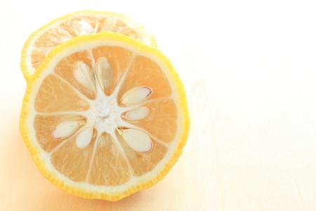 일본어 겨울 음식 재료, 유자 감귤 류의 과일 이미지