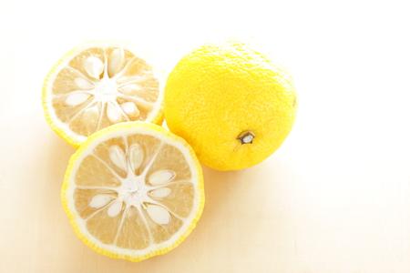 Japanese winter food ingredient, Yuzu for citrus fruit image