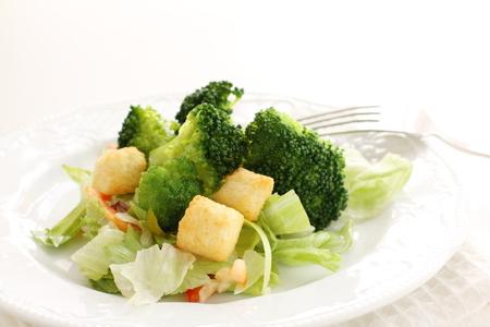 crouton: broccoli and crouton salad Stock Photo
