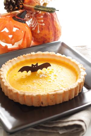 Halloween pumpkin tart