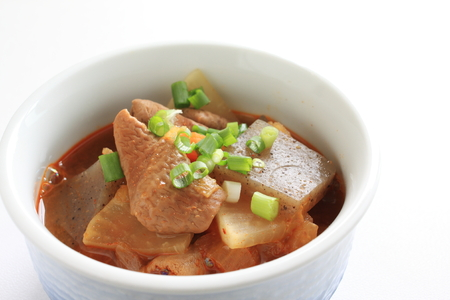 offal: Asian food, radish and offal simmered Stock Photo