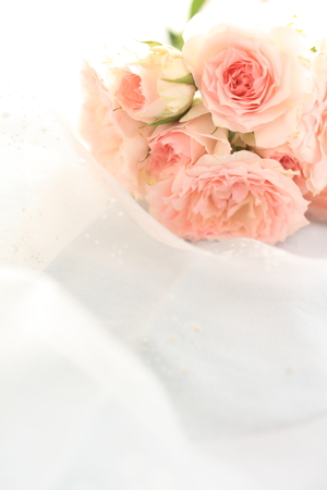 pink rose bouquet for wedding background image Banco de Imagens