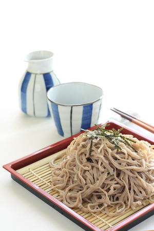 soba noodles: Japanese food, Soba noodles Stock Photo