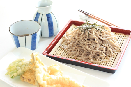 soba noodles: Japanese food, Soba noodles and tempura