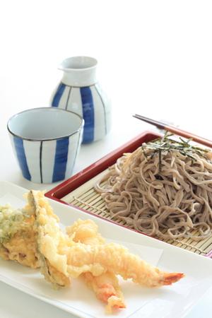 soba noodles: Japanese food, Soba noodles and tempura