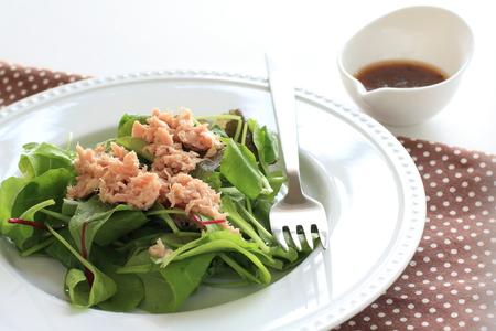tuna and baby leaf salad photo