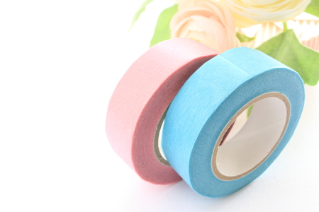 masking tape: pink and blue masking tape