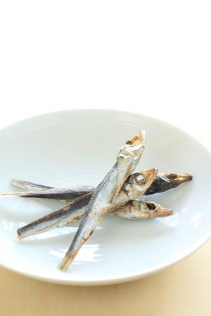 Japanese food, dried fish Stock Photo