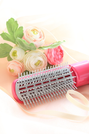 artificial hair: Hair dryer and artificial flower