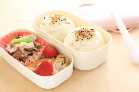 bento: Homemade Japanese packed lunch Bento Stock Photo