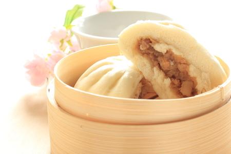 chinese food: close up chinese dumpking baozi Stock Photo