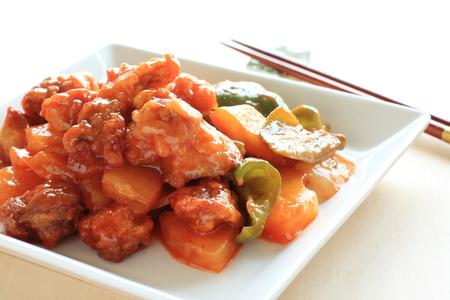 中華料理甘酢スペアリブ 写真素材