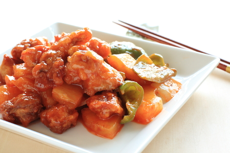 sweet and sour: Chinese cuisine sweet and sour spareribs
