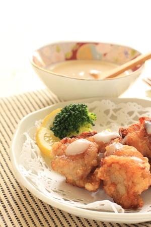 comida japonesa: Shiokoji frito pollo imagen Alimento japon�s por Foto de archivo