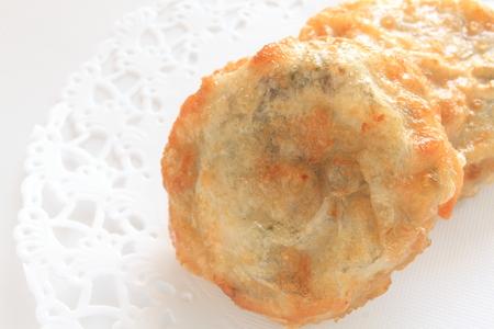 deep fried: deep fried leek Jiaozi
