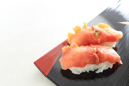 shell fish: Japanese cuisine shell fish sushi