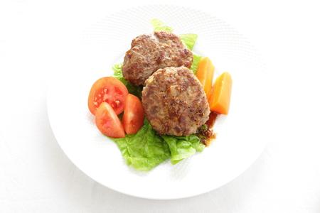 hamburger steak: Homemade patty hamburger steak Stock Photo