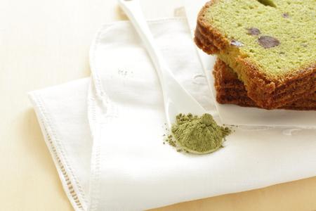 pound cake: green tea pound cake Stock Photo