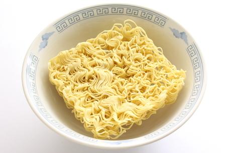 instant ramen: square instant ramen noodle in bowl
