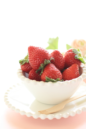 copy sapce: freshness strawberry from Japan
