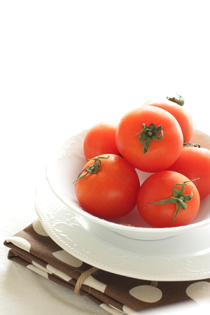 frescura: frescura tomate cherry de Japón Foto de archivo