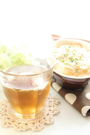 té helado: gratinado y té helado Foto de archivo