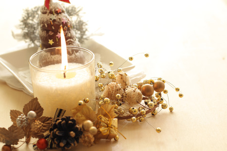 Christmas candle and cake