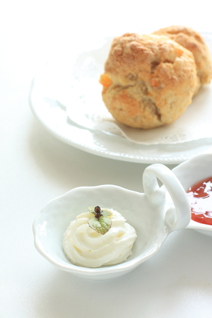 scone: cream and scone