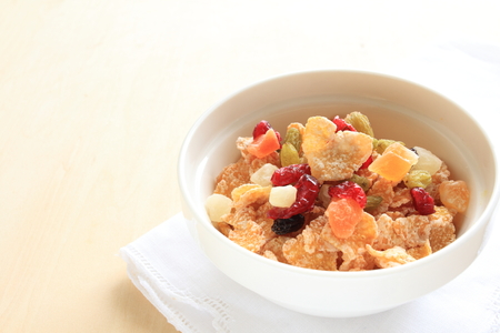flak: heart shaped corn flake for gourmet breakfast image