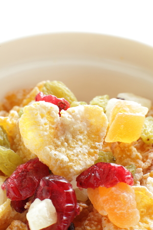 flak: heart shaped corn flake for gourmet breakfast imageheart shaped corn flake for gourmet breakfast image Stock Photo