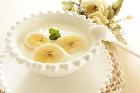 バナナと蜂蜜のヨーグルト