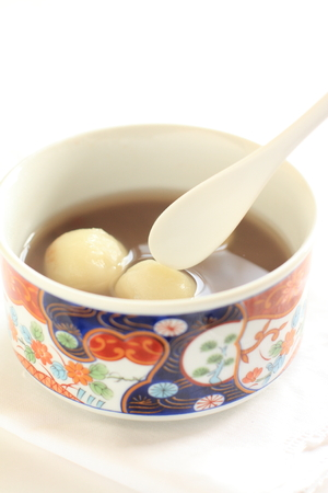 red bean: Japanese food, red bean soup and Dango