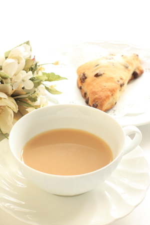 scone: English tea and scone Stock Photo
