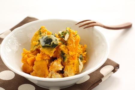 homemade pumpkin salad Stock Photo