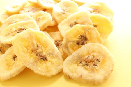 乾燥バナナのクローズ アップ