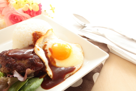 loco: Hawaiian food, Loco Moco rice