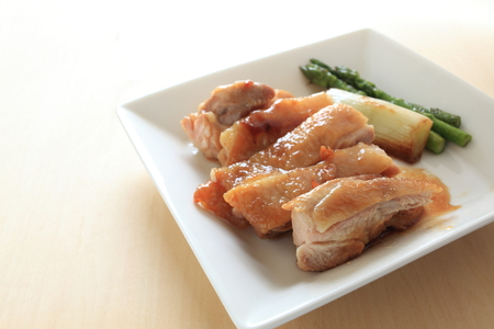 soy sauce: Chinese food, soy sauce chicken and vegetable Stock Photo